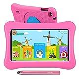 AWOW 7' Zoll Kinder Tablet,2GB RAM 16GB ROM,Kindersicher iWawa APP& Google Play Vorinstalliert, WiFi&Blutooth,Android 10 Tablet für Kinder mit Touchstift, kindgerechter Hülle Rosa