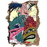 3D Wandaufkleber Naruto Sasuke Naruto Cartoon Anime Kinderzimmer Wasserdichter Glasaufkleber Wandtattoo-80 * 120CM-E_60*90CM