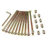 Inbusschraube M6 und Zylindermutter Verzinkte Innensechskantschrauben für Möbelzylinder für Möbel Kinderbetten Kinderbett und Stühle mit Schlüssel (100mm)