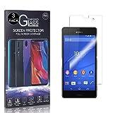 Bear Village® Displayschutzfolie für Sony Xperia Z3 Compact, Ultra Dünne Schutzfolie aus Gehärtetem Glas für Sony Xperia Z3 Compact, Keine Luftblasen, 9H Härte, 3 Stück