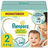 Pampers Baby Windeln Größe 2 (4-8kg) Premium Protection, 240 Stück, MONATSBOX, Pampers Weichster Komfort Und Schutz