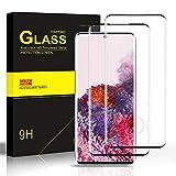 Carantee Panzerglas Schutzfolie für Samsung Galaxy S20 Ultra, 3D Gebogen Vollabdeckung, Ultra Dünn HD Displayschutzfolie, 9H Härte, Anti-Kratzen Panzerglasfolie für Samsung S20 Ultra [2 Stück]