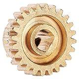 DAUERHAFT 0,8 Modul 4301-0006-0024 Messing mit Stabiler Struktur 24 Zahnrad für den Austausch von Industrieroboterteilen