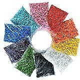 naninoa DEKOSTEINE, gemischte Bunte Farbsteine farbig Mix 9-13mm. 10 x 0,5 kg = 5 kg. Art.: DS6M141