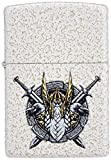 Zippo – Odin Design, Mercury Glass – Benzin Sturm-Feuerzeug, nachfüllbar, in hochwertiger Geschenkbox 60005577, weiß-gold, normal
