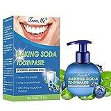 Whitening Zahnpasta, Stain Removal Toothpaste, Soda Zahnpasta, Heidelbeergeschmack, stark dekontaminierend, aufhellend, schützen Sie Zahnfleisc