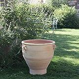 Palatina-Keramik | großes Pflanzgefäß Pflanzkübel aus Terracotta | 70 cm hoch | Blumentopf Übertopf für Außen G