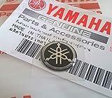 12mm Durchmesser Yamaha Stimmgabel Aufkleber Emblem Logo Silber Schwarz Gewölbt Gel Harz Selbstklebend Motorrad Jet Ski /Atv /Schneemobil/ Gitarre