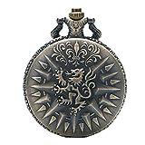 Haus Lannister Wappen Antik Bronze Effekt Retro Vintage Fall Männer Quarz Taschenuhr Halskette auf 32'Zoll / 80