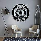Studio Wandtattoo Fotografie Vinyl Wandaufkleber Kamera Art Deco Poster Abnehmbare Tapete Wandaufkleber A7 42x42