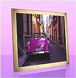 Monello Bilderrahmen 61x82 cm Farbe Gold Glanz mit entspiegeltem Kunstglas passt für Poster Puzzle und Diamond Painting