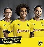 Borussia Dortmund Postkartenkalender. Postkartenkalender 2020. Monatskalendarium. Spiralbindung. Format 16 x 17 cm