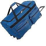 Deuba XXL Reisetasche 160L Trolleyfunktion Teleskopgriff Marineblau Duffle Bag Sporttasche Reisegepäck Gepäcktasche