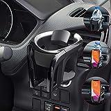 Tawveml Universal KFZ Auto Getränkehalter/Becherhalter Handyhalterung/Multifunktion 2 in 1 Flaschenhalter Kaffee Handy Halterung Verstellbare Auto Lüftungshalterung (Silber)