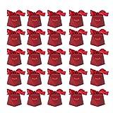 JYLSYMJa Süßigkeits-Geschenkbox, Exquisite 25er-Süßigkeitsbox, innovativer Zuckerbehälter in Rautenform für Partys, Geburtstage, Hochzeiten, Rot(L)