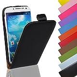 Eximmobile - Flip Case Handytasche für Nokia Lumia 625 in Schwarz | Kunstledertasche Nokia Lumia 625 Handyhülle | Schutzhülle aus Kunstleder | Cover Tasche | Etui Hülle in Kunstleder
