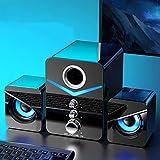 Libobo-001 AUX-Kabelgebundene Bluetooth-Lautsprecher-Kombination Computer-Lautsprecher-Heimkino-System Musik-Player Subwoofer-PC-Sound-Box Für Laptop,Schw