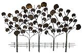 KunstLoft Extravagante Metall Wandskulptur 'Serenade der Bäume' 72x117x6cm  Design Wanddeko XXL handgefertigt  Luxus Metallbild Wandrelief   Ginko Baum in Gold & Bronze   Wandobjekt Wandb