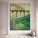 Odtis Harry Potter Poster New Vintage Hogwarts Express Leinwand Poster druckt Wandkunst Gemälde dekorative Bild moderne Wohnkultur 20x30cm NoFramed