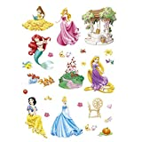 ufengke Wandtattoo Prinzessin Meerjungfrau Wandsticker Wandaufkleber Schloss Für Babyzimmer Kinderzimmer M