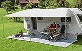 BERGER Sonnenvordach Vario 600x240cm Vordach Sonnenschutz Wohnwagen Sonnendach Dach Sonnensegel grau