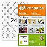 Runde Etiketten 40 mm Durchmesser 600 Markierungspunkte/Sticker selbstklebend blanko weiß 40mm rund auf 25 DIN A4 Bogen