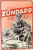 Blechschild 20x30 Zündapp DB 200 1935 2-Takt Motorrad Beiwagen Gespann Bauernmotorrad im Retro Vintage Nostalgie Werbe Plakat S