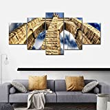VYQDTNR Bilder Abstrakt 100x55 cm Vlies Leinwandbild 5 Kunstdruck modern Wandbilder XXL Wanddekoration Design Wand Bild - Sturm über Brooklyn Bridge Möbel Art Deco, Rahmen