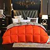 Cactuso Soft Touch 4 Jahreszeiten Bettdecke,Klimatisierung Doppelt Doppelt Am Doppelbett-220x240cm 3000g_orange Grau
