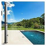 MGCD Solardusche Solardusche Für Schwimmbad,Freistehende Solarbetriebene Dusche Regendusche,Einstellbare Wassertemperatur Gartendusche Für Den Garten