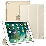 Fintie Hülle für iPad 9.7 Zoll 2018/2017 - Ultradünn Schutzhülle mit transparenter Rückseite Abdeckung Cover mit Auto Schlaf/Wach für 9.7' iPad 6. Generation / 5. Generation, Champagner Gold