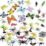 BESTZY 44pcs Insekten Tiersammlung Figuren Aufstellfiguren Tierfiguren Gummitiere Tier(5-8cm)