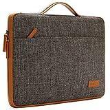 DOMISO 14 Zoll Laptop Hülle Etui Notebook Tasche Handtasche Abdeckung für 14' Lenovo ThinkPad T470 E470 / 14' HP Pavilion 14/13' HP Pavilion x360 13/13.5' Surface Book, Braun