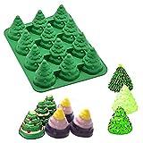 liunian459 3D Weihnachtsbaum Kuchen Backform Weihnachtsbaum Silikon Kuchen Backform