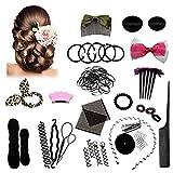 AODOOR Haare Frisuren Set, Haarstyling Zubehör Frisurenhilfe Set, Haar Styling Werkzeug Set Haar Clip-Pads Haar Frisur Klammer, Frisur Hilfe Set Einfache Frisuren für jeden zum Nachmachen