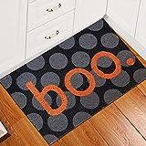 SOIUTAO Halloween Fußmatte Decke Indoor Outdoor Haustür Dekoration Halloween Dekoration Verschleißfeste Fledermausdruck Bodenmatte