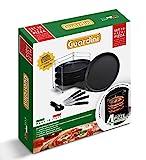 Guardini 4223027514 Pizza Geschenkset 10-teilig, Pizza Rack, 4-Pizza Bleche 32 cm, 4-Pizza Messer und Pizzaschneider