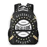 Laptop Rucksack Schulrucksack ABC Baseball Zeichen Abzeichen, 14 Zoll Reise Daypack Wasserdicht für Arbeit Business Schule Männer Frauen