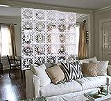 MYEUSSN Raumteiler Paravent Weiß Elegant DIY Paravents Raumtrenner Sichtschutz Umweltfreundlichem PVC Holz-Plastik Trennwand Home Dekoration für Wohnzimmer Schlafzimmer Küche Esszimmer 12pcs