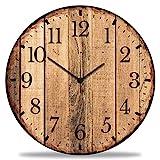 GRAVURZEILE Wanduhr aus Holz Nature Love - 100% Lautlos kein Ticken absolut geräuschlos - 30 cm Ø - Design Wanduhren für Wohnzimmer Schlafzimmer & Kü