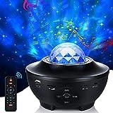 LED Sternenhimmel Projektor, 21 Modi Galaxy Light Rotierendes LED Sternenlicht 10 Farbwechselnde Nebu Licht Projektor mit Fernbedienung Bluetooth-Lautsprecher und Timer für Zimmer, Partys, Geschenke