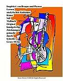 Inspiriert von Braque und Picasso Lernen analytischen Kubismus Kunst Stil Malbuch Original handgefertigt Zeichnungen gemacht durch Künstler Grace ... IN GERMAN (SOME IN GERMAN WITH ENGLISH))