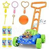 Sotodik Bubble Mäher für Kinder automatische Blase Rasen Maschine mit Musik klingt Outdoor Party Spielzeug für Kleinkinder mit 4 Flaschen Lösung und 6PCS Blase Zauberstäbe Set für Jungen & Mädchen.