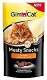 GimCat Meaty Snacks Huhn - Softer Katzensnack mit hohem Fleischanteil, Vitaminen und Taurin - 1 Beutel (1 x 35 g)