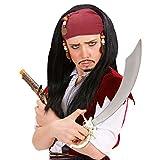 NET TOYS Kinderperücke Pirat mit Kopftuch Piratenperücke Kinder Perücke Piraten Fasching Karneval Kinderperücken als Kostüm Zubehör