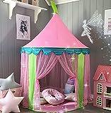Kinderzelt Prinzessin Spielzelt für Mädchen - Glitzer Castle Kinderzimmer mit Tragetasche - Kinderhaus- Spielzeug für Innen- und Außenspiele 104cm x 140cm (DxH)