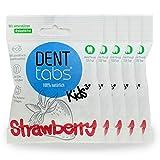 Zahnputztabletten Denttabs KIDS Strawberry (5x125Stk) Plastikfrei ohne Fluorid