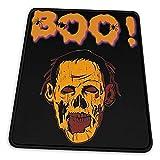 Buh! Zombie Halloween Holiday T-Shirt Mauspad Rutschfeste Gummiunterlage für Büro-Gaming-Computer mit genähter Kante