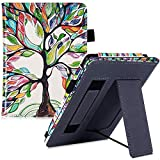 XINJIEJIE Hülle Für Kindle Paperwhite 6./7. Generation (2012/2013/2015/2017 Release) - Handheld Standing Cover Mit Sleep/Wake Lucky Baum Muster Drop Resistance Flip Cover Protective Cover