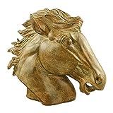 Gremegro Pferdekopf Statue aus Polyresin, Skulptur, Tischdeko, Deko, H:35xL:43